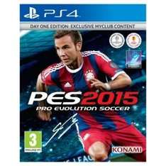 PES 2015 PS4 Day One Edition £29 Tesco Direct