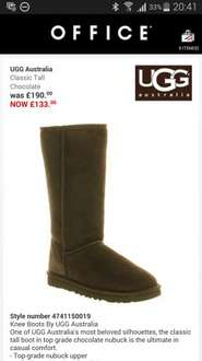Ugg classic tall in various sizes/colours £133.00 @ Office