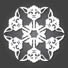 Free Frozen and Star Wars Snowflakes Templates