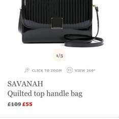 Ted Baker SAVANAH bag was £109 now £55 + FREE P&P