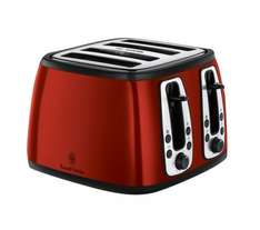 RUSSELL HOBBS Heritage 4-Slice Toaster / Kettle (Red or Cream) £20 Each @ Currys