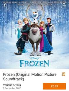 Frozen Original Motion Picture Soundtrack Album 99p @ Google Play Store