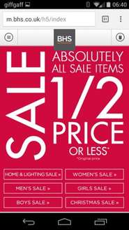 bhs sale all items 50% or more off
