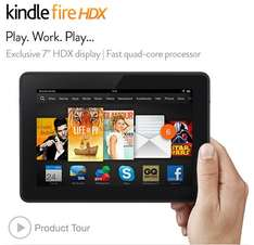 """Kindle fire HDX 7"""" offer back on Amazon all models £100 off from"""