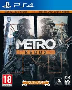 METRO REDUX FOR PS4/XBONE1 FOR £18.97 delivered @ THE HUT