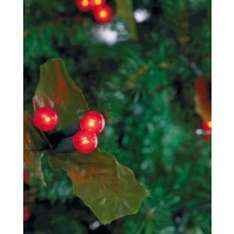 60 Holly and Berry Christmas Tree Lights - Red  @ Argos £3.99 (from £14.99)