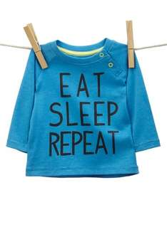 Baby Boys Eat, Sleep, Repeat top £2.25 BHS, various sizes