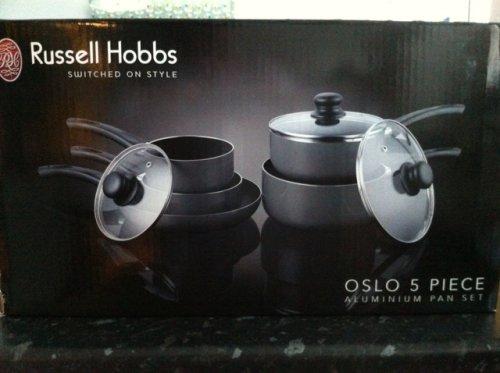 Russell Hobbs Oslo 5 Piece Aluminium pan set (non-stick), £29.99 Half Price @ Argos