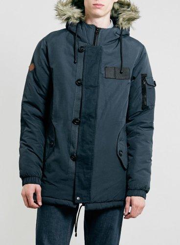 Bellfield Totto Fur Trim Parka Navy £43.48 @ Resurrection Online