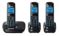 Panasonic KX-TG5523EB Triple Cordless Phone with answering machine - Black - £45 @ Tesco