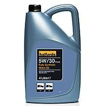 Halfords 5W30 Ford Fully Synthetic Motor Oil 4L £12 but 10% off if ordered today