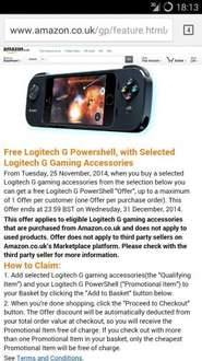 Free Logitech G Powershell, with Selected Logitech G Gaming Accessories