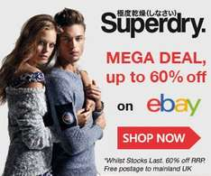 Superdry on ebay up to 60% + free delivery