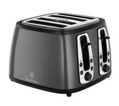 RUSSELL HOBBS Heritage 19163 4-Slice Toaster - Metallic Graphite - £20 @ Currys + 4 other colours available!