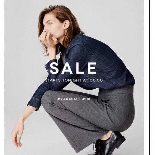Zara sales start tonight at 00:00 online
