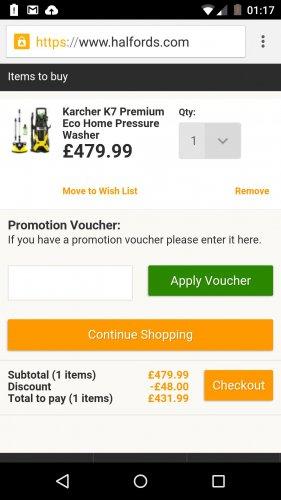 Karcher Eco K7 Premium £431.99 at Halfords