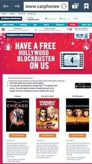 Free Movies on Google Play - Chicago, Starsky & Hutch, Cold Mountain from Carphone Warehouse
