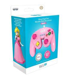 Wired Fight Pad for Wii U - Princess Peach - Officially Licensed - £19.85 @ ShopTo