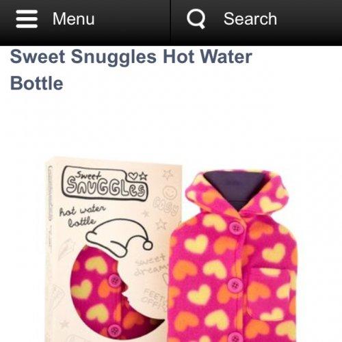 Sweet Snuggles Hot Water Bottle just £1.99 - £12.01 OFF @ Superdrug