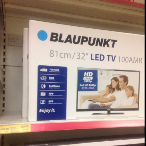Blaupunkt 40 inch full Hd Led TV - £179.99 instore @ Tesco