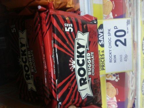 Chocolate Rockys 5pack 20p @ Poundstretcher