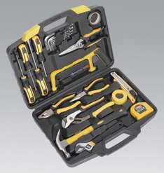 Sealey 25 piece Tool Kit in Carry Case at euro car parts - half price with free delivery. USE CODE EXTRA5 for final price of £33.24