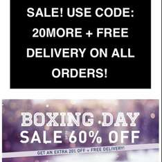 Boohoo upto 60% off with extra 20% off + free delivery