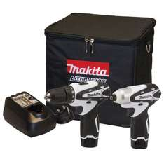 Makita 10.8V Lithium-Ion Cordless Kit with Combi Drill and Impact Driver - White (2 Pieces) £92.99 @ Amazon Lightning Deal