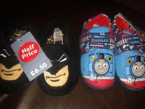 Kids character slippers half price @ Tu Sainsburys