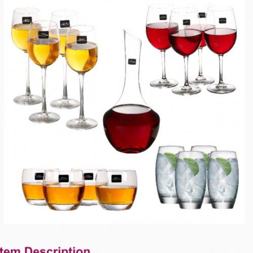 Royal Worcester 17 piece, wine, whiskey, liqueur, drinks + decanter -£29.99 eBay daily-deals-ltd