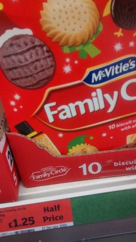 Mcvities Family Circle 800g now £1.25 @ Sainsburys