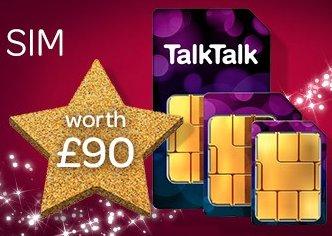 TalkTalk FREE monthly sim for Plus TV customers worth £90 (Talk Talk Customers only)