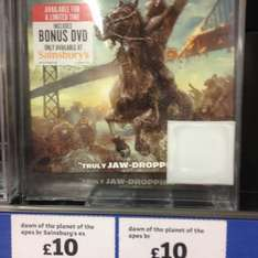 Dawn of the planet of the apes blu ray £10 @ sainsbury's