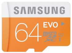 Samsung 64GB Evo MicroSDHC Class 10 Memory Card with USB Adapter - £19.99 @ Amazon