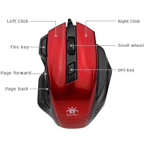 aLLreli High Precision Optical Laser Gaming Mouse £8