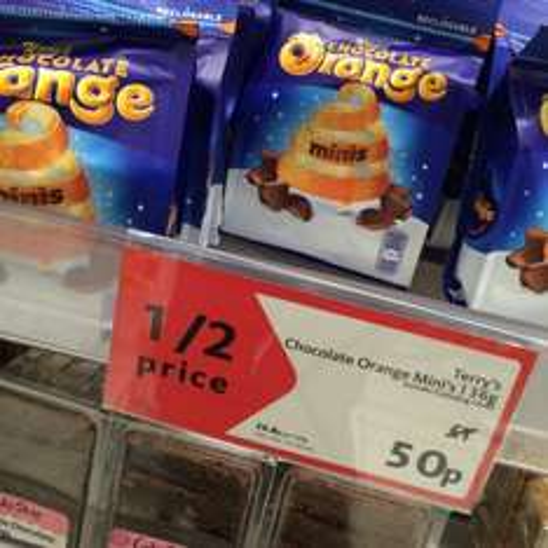 Terry's Chocolate Orange 136g 50p @ Morrisons