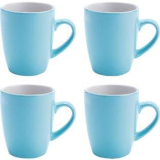 ColourMatch Two-Tone 4 Piece Mug Set - Jellybean Blue, £2.99 R&C @ Argos, More options see below