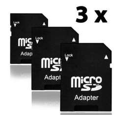 3x MICRO SD TO STANDARD SD CARD ADAPTERS 99p @ amazon sold by ChanceryChairCover