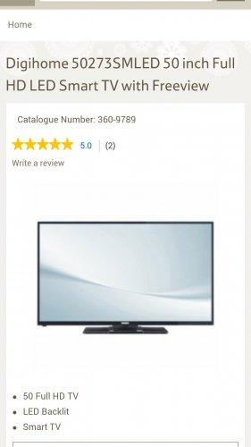 "DigiHome 50"" LED TV 1080p - £299 instore @ Tesco"
