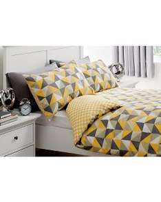 Monochrome Triangles Duvet set Double or King from £6 @ Asda Direct