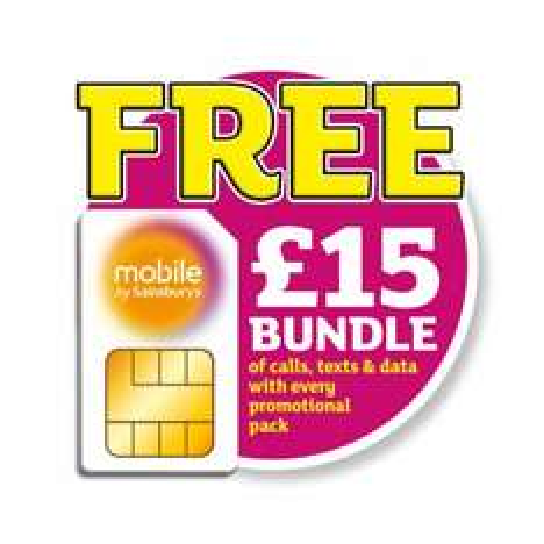 Free Mobile by Sainsbury's SIM with £15 bundle - Kellogs promotion