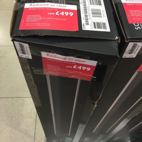 Sonos playbar £499 @ John Lewis Bluewater