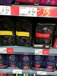 Taylor's ground coffee 227g Colombia & Indonesia £1.50 each at Asda