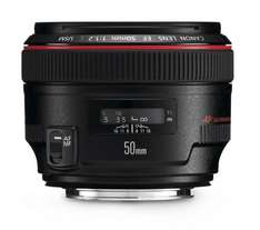 CANON EF 50mm f/1.2 USM Prime Lens 20% discount = £887.20 at checkout @ Currys
