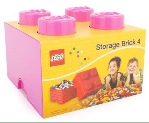 Lego 4 brick storage box - pink. Half price £8 at Alexandalexa