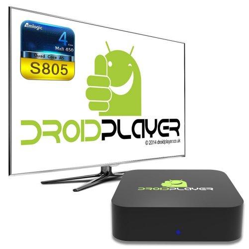 Droidplayer  Quad Core Android (Kit Kat 4.4) TV Box Streaming Media Player £54.99 @ Amazon lightining deal