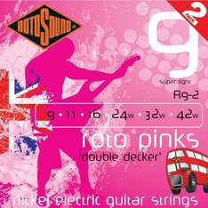Rotosound 9's Guitar Strings Twin pack £2.99 + £1.49 postage @ gak.co.uk