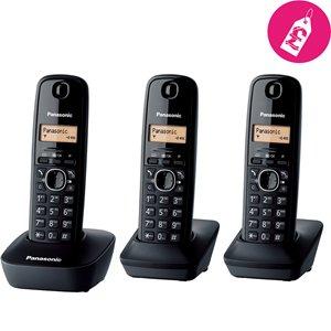 Panasonic KXTG1613 Trio Black Digital Cordless Telephone with 50-entry Phonebook , Amber Backlit Display £29.99 @ coopelectricalshop