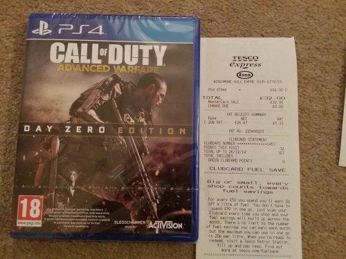 Call of Duty: Advanced Warfare Day Zero Edition - £32 PS4 @ Tesco - w/ discount code = £27