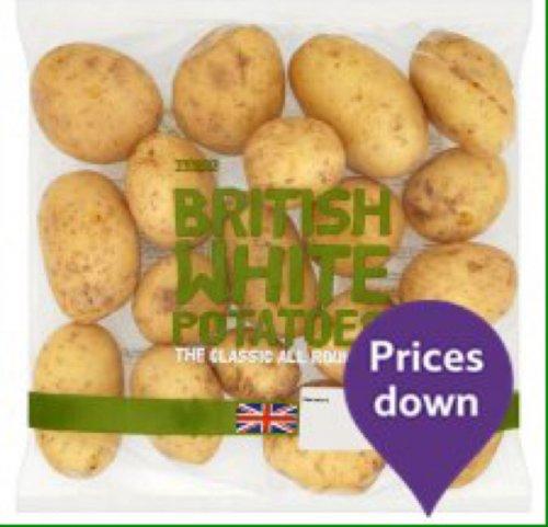White potatoes 2.5kg 5p at tesco